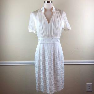 Antonio Melani cream silk dress